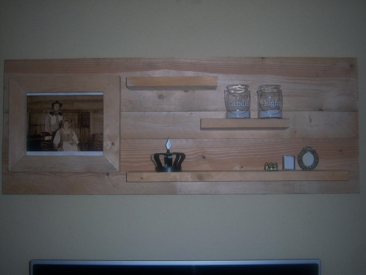 wanddecoratiebord met fotolijst